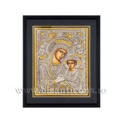 Icoana argintata - Maica Domnului Imparateasa - Anagheni 34x42 cm