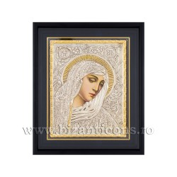 Icoana argintata - Maica Domnului cu lacrimi - Filimeni 34x42 cm