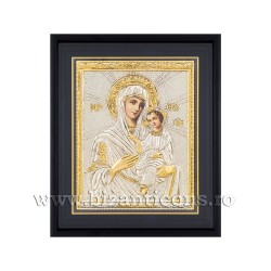 Icoana argintata - Maica Domnului din Thino 34x42 cm