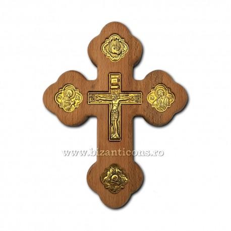 Cruce lemn perete - Rastignirea metal 19 cm