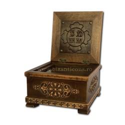 Racla lemn gravat 13x20x20 cm R 126-1303