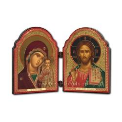 183-906 diptic lemn M MD Kazan - bizantin 8,5x11 12/cutie