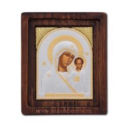 Icoana Ag925 Maica Domnului Kazan 16,5x20 cm