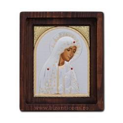 Icoana Ag925 Maica Domnului de la Fatima 22,5x29 cm