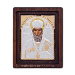 Icoana Ag925 Sfantul Ierarh Nicolae 22,5x29 cm