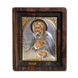 Icoana Ag925 - Sfantul Serafim de Sarov 11,5x14 cm