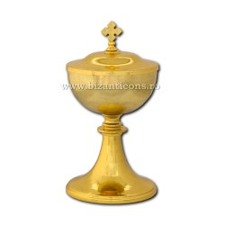 Vas anafora cu capac - metal auriu - 12x23cm D 103-2