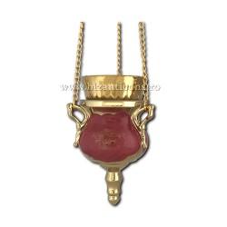 121-30-2 Candela ceramica lant - Rosu