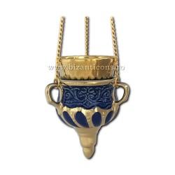 121-31-1 Candela ceramica lant - Albastru