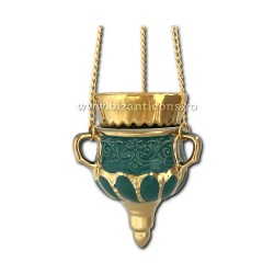 121-31-5 Candela ceramica lant - Verde