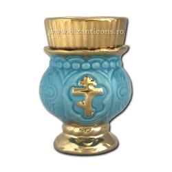 121-3-3 Candela ceramica mica - Bleo