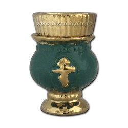 121-3-5 Candela ceramica mica - Verde