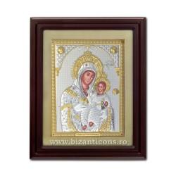Icoana argintata - Maica Domnului din Bethleem 51x61 cm