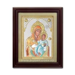 Icoana argintata - Maica Domnului din Bethleem 42x50 cm