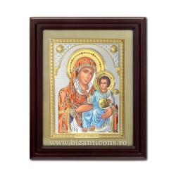 Icoana argintata - Maica Domnului de la Ierusalim 42x50 cm