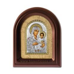 Icoana argintata - Maica Domnului de la Ierusalim 35x43 cm