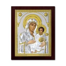 Icoana argintata - Maica Domnului de la Ierusalim 43x53 cm