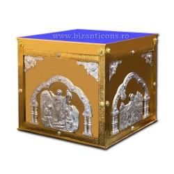 Sfanta masa metal - email albastru 116x166 h 108 cm Z 128-2