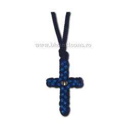 9-12-3 colier textil - negru + bleo 12/set
