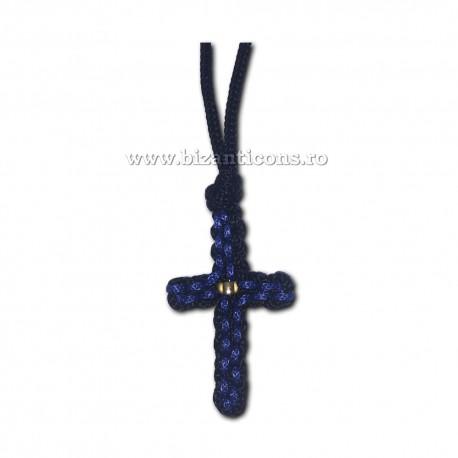 9-12-1 colier textil - negru + albastru 12/set