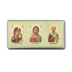 29-26 triptic plastic cu adeziv 4x9,5 cm 12/set