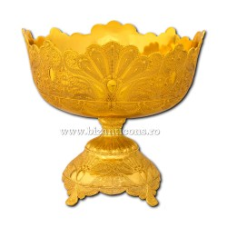 The 51-40Au boat, anaphora/holy water - table - and-gold 24x25cm 12/box