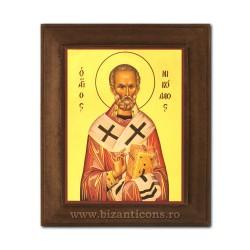 1828-009 Icoana fond auriu 11x13 - Sf Nicolae