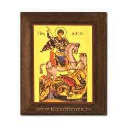1828-010 Icoana fond auriu 11x13 - Sf Gheorghe