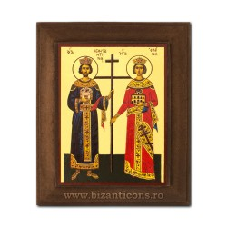 1828-011 Icoana fond auriu 11x13 - Sf Constantin si Elena
