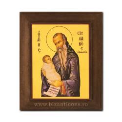 1828-013 Icoana fond auriu 11x13 - Sf Stelian