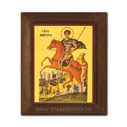 1828-014 Icoana fond auriu 11x13 - Sf. Dumitru