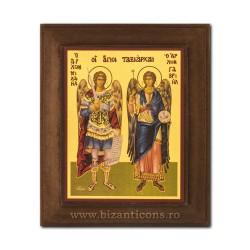 1828-033 Icoana fond auriu 11x13 - Sf Mihail si Gavriil