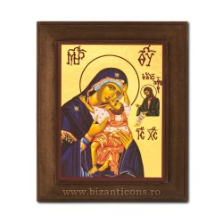 1828-411 Icoana fond auriu 11x13 - MD Dulcea Sarutare - dreapta