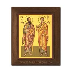 1828-431 Icoana fond auriu 11x13 - Sf. Ap. Petru si Pavel