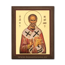 1829-009 Icoana fond auriu 15,5x19,5 - Sf Nicolae