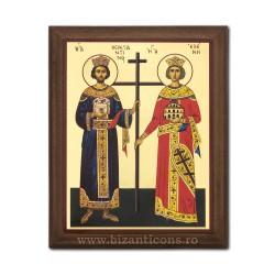 1829-011 Icoana fond auriu 15,5x19,5 - Sf Constantin si Elena