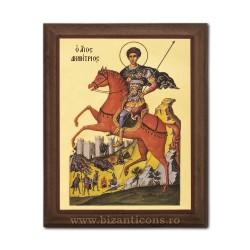 1829-014 Icoana fond auriu 15,5x19,5 - Sf. Dumitru