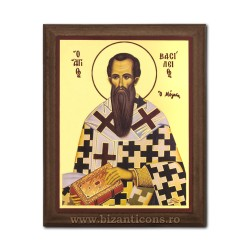 1829-126 Icoana fond auriu 15,5x19,5 - Sf. Vasile