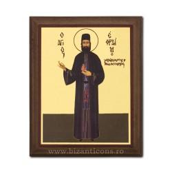 1829-439 Icoana fond auriu 15,5x19,5 - Sf Efrem