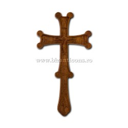 6-74 Cruce Bin. lemn gravat scris 2p - 18cm