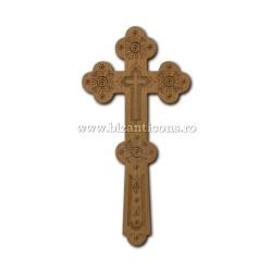 6-500 Cruce Bin. lemn sculptat 1p - mare 26cm