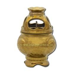 118-9 candela cu capac ceramic 11,5 cm - Auriu