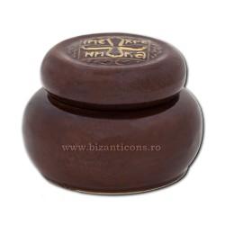 119-6 cutie ceramica - tamaie 6,5x9,5 cm - Maro