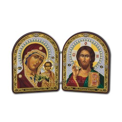 1820-1 diptic lemn 18x11,5 cm M+MD din Kazan 10buc/cutie
