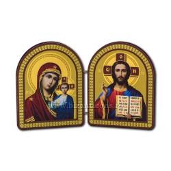 1820-3 diptic lemn 18x11,5 cm M+MD din Kazan 10buc/cutie