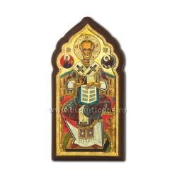 Icoana pe lemn 9,5x19 - Sf Nicolae ICL25-009