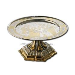 Disc cu baza - aurit si argintat - acant - mediu AT 323-14