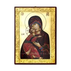 Icoana pictata - Maica Domnului din Vladimir - 32X44 cm