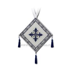 Bedernita brodata - albastra - cruce VB2-1