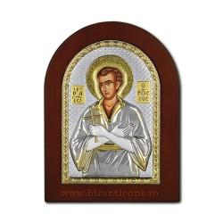 Icoana argintata - Sfantul Ioan Rusul 16x20 cm
